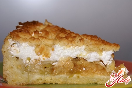 delicious apple pie with meringue