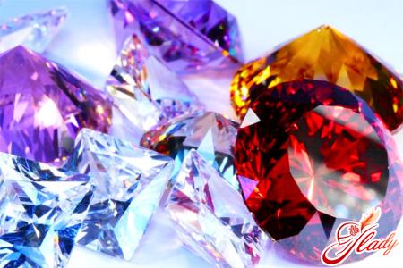 Jewelery with precious stones