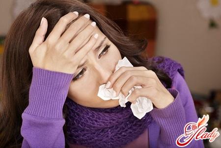 Symptom of the disease may serve as nasal congestion