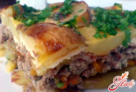 potato casserole with minced meat