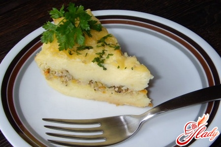 potato pudding with minced meat