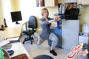 physical exercises in the office