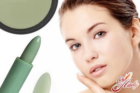 Correct green concealer