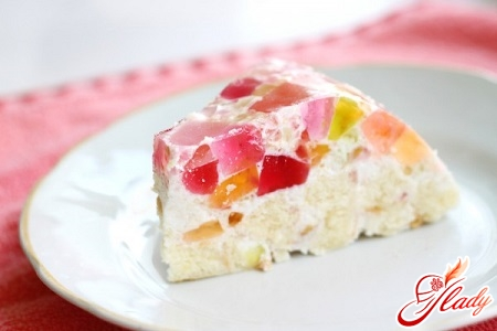 jelly cake with biscuits