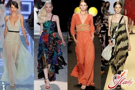 summer dresses in the floor
