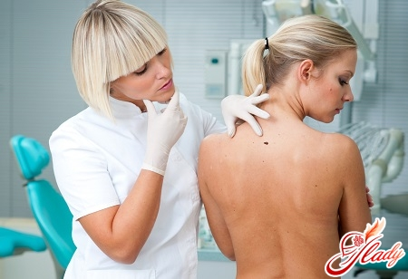 examination of the lipoma by a doctor